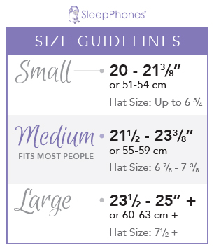 Medium SleepPhones fit most customers. If your head is less than 21.5 inches around order size small. If it's over 23.5 inches order the large.